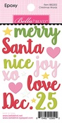 Christmas Words Epoxy - Santa Squad - Bella Blvd