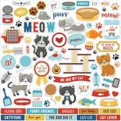 I Love My Cat Element Sticker - Echo Park