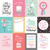 3X4 Journaling Cards Paper - It's Your Birthday Girl - Echo Park - PRE ORDER