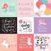 4X4 Journaling Cards Paper - It's Your Birthday Girl - Echo Park