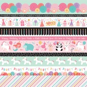 Border Strips Paper - It's Your Birthday Girl - Echo Park