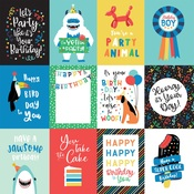 3X4 Journaling Cards Paper - It's Your Birthday Boy - Echo Park
