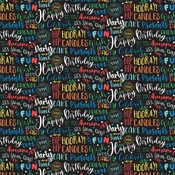 Birthday Boy Words Paper - It's Your Birthday Boy - Echo Park