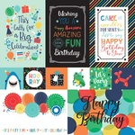 Multi Journaling Cards Paper - It's Your Birthday Boy - Echo Park
