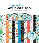 It's Your Birthday Boy 6x6 Paper Pad - Echo Park