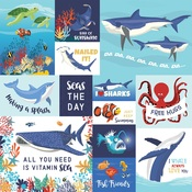 Multi Journaling Cards Paper - Fish Are Friends - Carta Bella - PRE ORDER