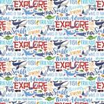 Ocean Words Paper - Fish Are Friends - Carta Bella