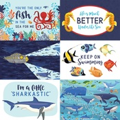 4X6 Journaling Cards Paper - Fish Are Friends - Carta Bella