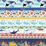 Border Strips Paper - Fish Are Friends - Carta Bella