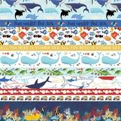 Border Strips Paper - Fish Are Friends - Carta Bella - PRE ORDER