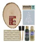 Christmas Tree Wood Sign Kit