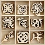 Lily & Moss Kaisercraft Wood Mini Themed Embellishments