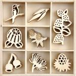 Native Breeze Wood Mini Themed Embellishments - KaiserCraft