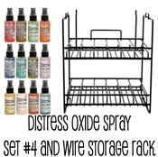 Distress Oxide Bundle 4 + Wire Rack - Tim Holtz