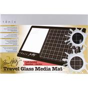 Left-Handed Tim Holtz Travel Glass Media Mat