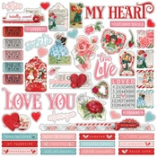 My Valentine Combo Sticker Sheet - Simple Stories