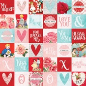 2 x 2 Elements Paper - My Valentine - Simple Stories - PRE ORDER