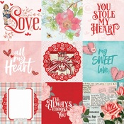 4 x 4 Elements Paper - My Valentine - Simple Stories - PRE ORDER
