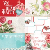 4 x 6 Elements Paper - My Valentine - Simple Stories