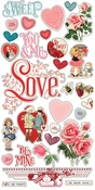 My Valentine Chipboard Stickers - Simple Stories