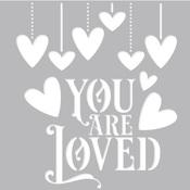 My Valentine 6 x 6 Stencil - Simple Stories