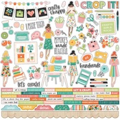 Hey, Crafty Girl Combo Sticker - Simple Stories