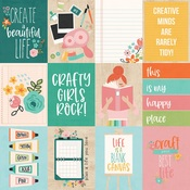 3 x 4 Elements Paper - Hey, Crafty Girl - Simple Stories