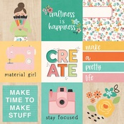 4 x 4 Elements Paper - Hey, Crafty Girl - Simple Stories