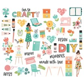 Hey, Crafty Girl Bits & Pieces - Simple Stories