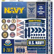 Navy Elements Cardstock Stickers - Reminisce - PRE ORDER