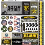 Army Elements Cardstock Stickers - Reminisce - PRE ORDER