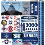 Air Force Elements Cardstock Stickers - Reminisce - PRE ORDER