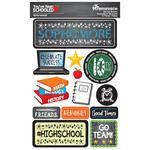 10th Grade You've Been Schooled 3D Dimensional Stickers - Reminisce - PRE ORDER