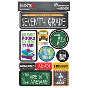 7th Grade You've Been Schooled 3D Dimensional Stickers - Reminisce