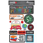 5th Grade You've Been Schooled 3D Dimensional Stickers - Reminisce - PRE ORDER