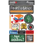 4th Grade You've Been Schooled 3D Dimensional Stickers - Reminisce - PRE ORDER