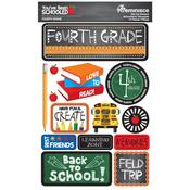 4th Grade You've Been Schooled 3D Dimensional Stickers - Reminisce