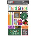 3rd Grade You've Been Schooled 3D Dimensional Stickers - Reminisce - PRE ORDER