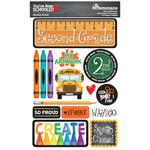 2nd Grade You've Been Schooled 3D Dimensional Stickers - Reminisce - PRE ORDER