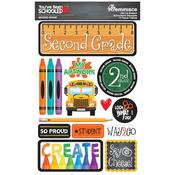 2nd Grade You've Been Schooled 3D Dimensional Stickers - Reminisce