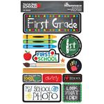 1st Grade You've Been Schooled 3D Dimensional Stickers - Reminisce - PRE ORDER