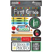 1st Grade You've Been Schooled 3D Dimensional Stickers - Reminisce