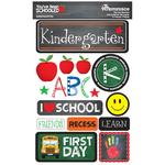 Kindergarten You've Been Schooled 3D Dimensional Stickers - Reminisce - PRE ORDER