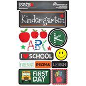 Kindergarten You've Been Schooled 3D Dimensional Stickers - Reminisce
