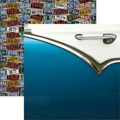 Fabulous Fifties Paper - Classic Cars - Reminisce