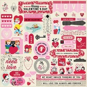 Love Notes Details Stickers - Authentique