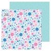 Snowflowers Glittered Paper - Winter Wonderland - Doodlebug
