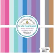 Winter Wonderland Textured Cardstock Assortment Pack - Doodlebug