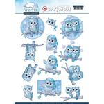 Winter Owls - Sparkling Winter Yvonne Creations Punchout Sheet