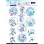 Winter Friends - Sparkling Winter Yvonne Creations Punchout Sheet
